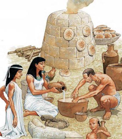 Выпечка хлеба в древнем Египте