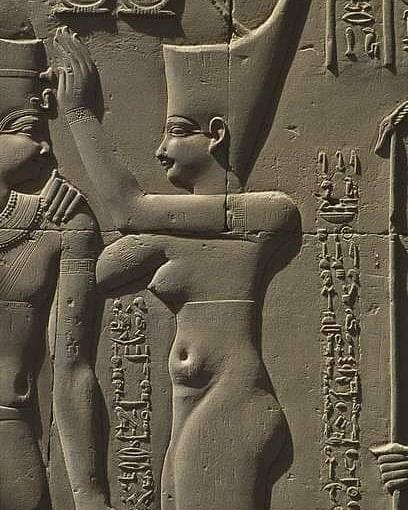 Деталь рельефа на колонне храма Ком-Омбо