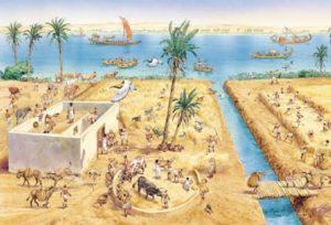 Сбор урожая в Древнем Египте
