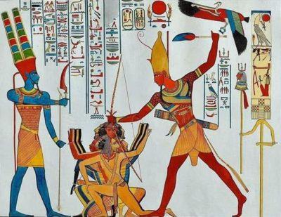 Царь Рамсес II поражает мятежников