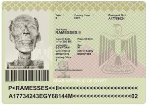 Паспорт Рамзеса 2