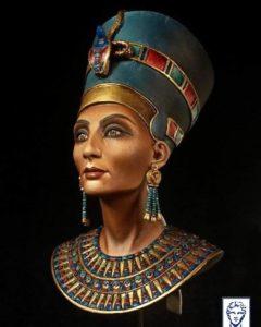 Рисунок, царица Нефертити
