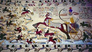 Ахмос I побеждает гиксосов в 1552 году до нашей эры