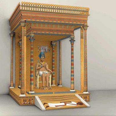 Реконструкция царского балдахина Аменхотепа III