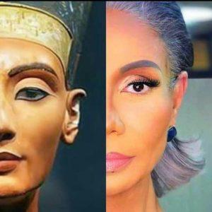 Египетскую актрису Савсан Бадр называют беглянкой из музея из-за ее сходства внешне с царицей Нефертити