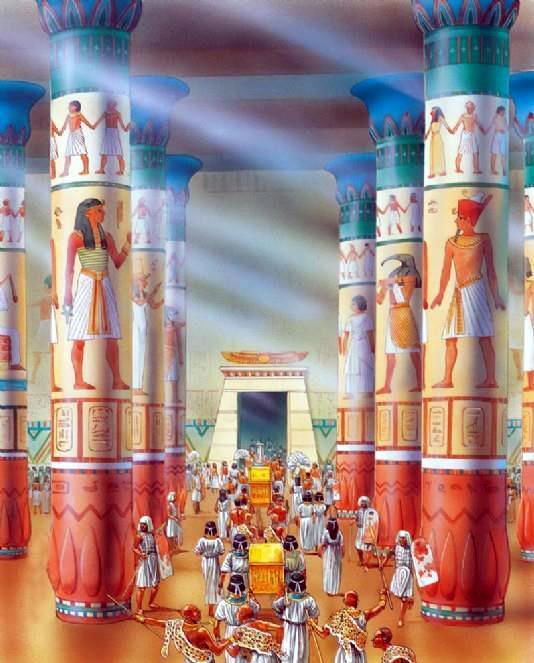 Гипостильный зал в храме в Карнаке