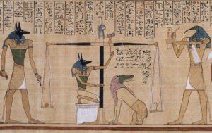 Иллюстрация из Книги Мертвых, на папирусе