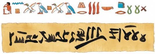 Иероглифические и иератические письмена