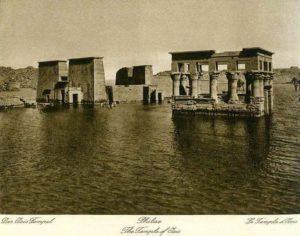 Храм Филы на его первоначальном месте. Начало 20-го века.