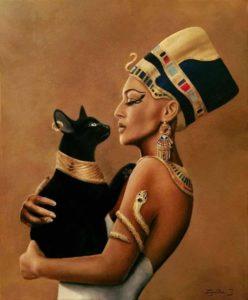 Нефертити и кошка